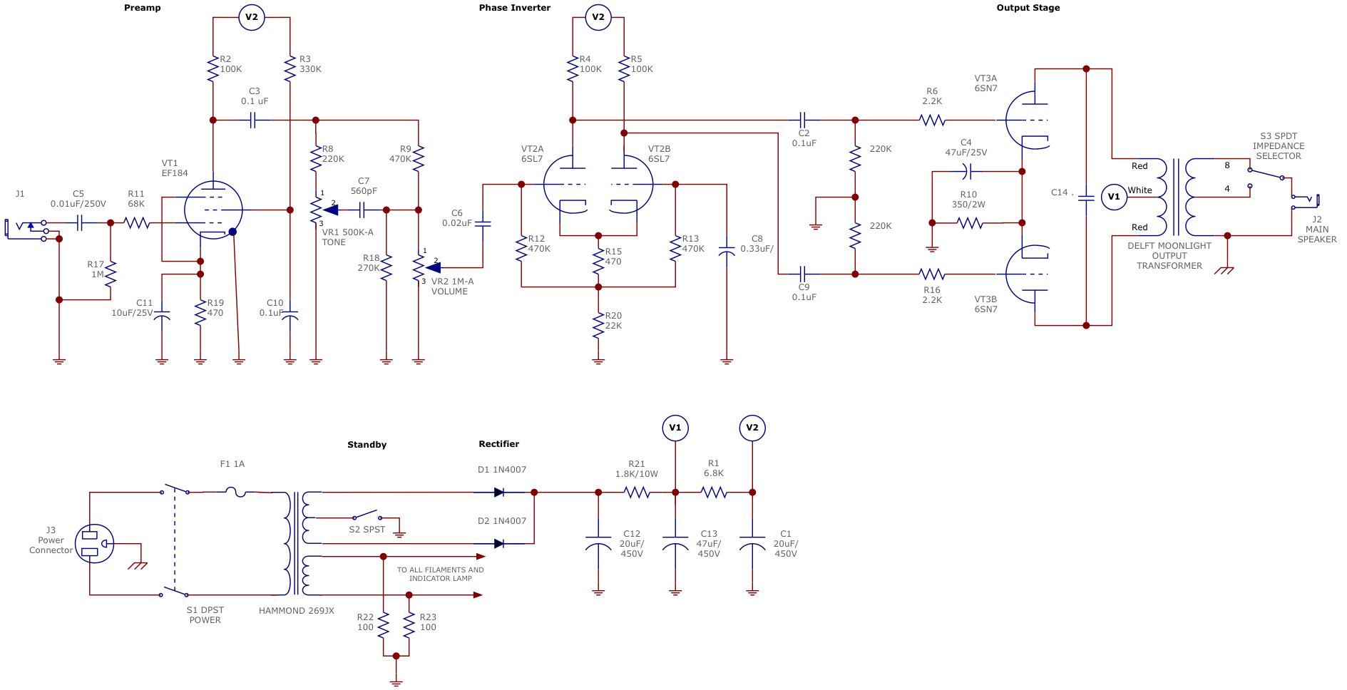 12au7 output modification